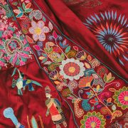 The Red Dress Embroidery: 202 embroiderers, 28 countries, 1 dress